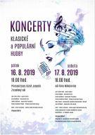 Koncert klasické a populární hudby  17.8.2019.